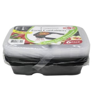 U #RP86350 FOOD CONTAINERS 2-COMPART
