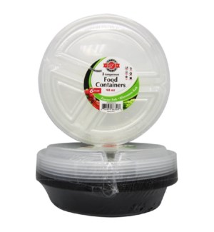 U #RP86358 FOOD CONTAINERS 3-COMPARTMENT