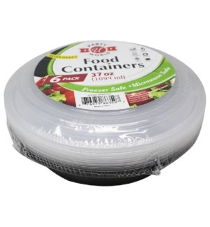 U #RP86359 B&W FOOD CONTAINER, ROUND