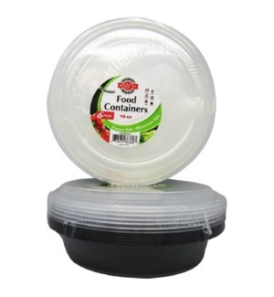U #RP86360 B&W FOOD CONTAINER, ROUND