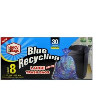 U #IN86704 RECYCLING TRASH BAG, BLUE
