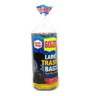 TRASH BAGS #IN86708 33GL BLACK LARGE