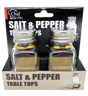 U #CH87173 SALT & PEPPER SHAKERS GLASS J