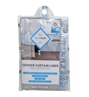 CV87759 SHOWER LINER CLEAR HEAVY VINLY