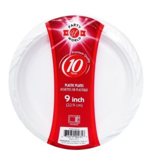 U #CN90235 PLASTIC PLATE, MICROWAVEABLE