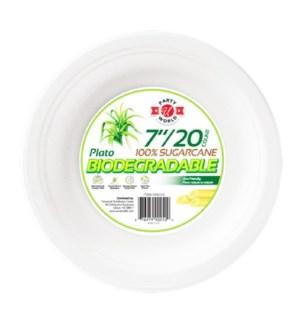 U #CN90250 ROUND PLATE, BIODEGRADABLE