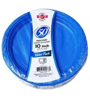 U #CN90278 PLASTIC PLATE, BLUE