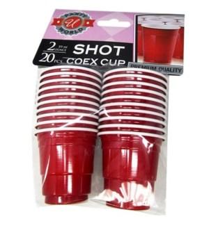 U #CN91025 SHOT COEX CUP, RED