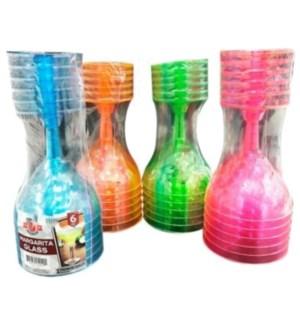 U #CN91029 MARGARITA GLASS, NEON
