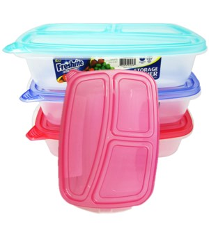 FOOD CONTAINER #CH91058 3-SET RECTANGULA