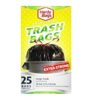 U #CN92273 TRASH BAGS W/DRAW STRING