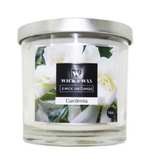 U #96067 3-WICK JAR GARDENIA CANDLE