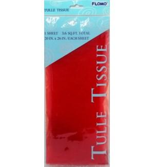 TULLE TISSUE #CSED21 RED