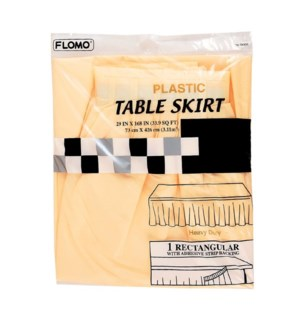 TABLE SKIRT #TK506 PLASTIC