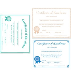 MG-1579 CERTIFICATE OF EXCELLENCE
