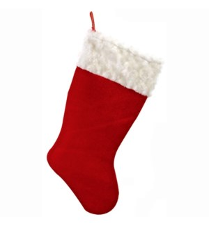 CH-MAS #XO5030 STOCKING W/CURLY MOHAIR T