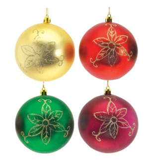 CH-MAS #HO374 BALL FLORAL ORNAMENT