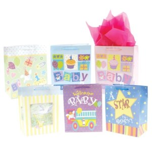 GIFT BAG #BY77L BABY SHOWER, ASST