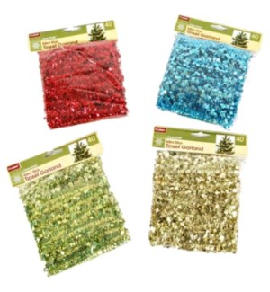 CH-MAS #XO2438 TINSEL GARLAND IN BAG