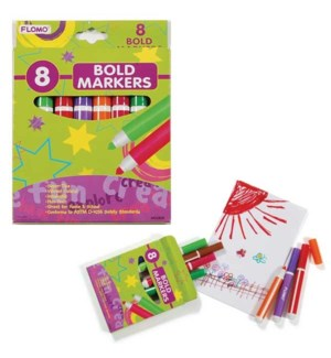 MG-2835 8PC BOLD MARKERS