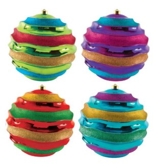 CH-MAS #HO462 WAVES GLTER ORNAMENT