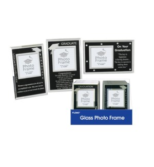 GD #SN337D GLASS PHOTO FRAME DISPLAY