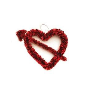 V #AV688 TINSEL HEART W/CUPID'S ARROW