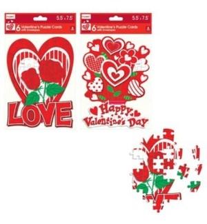 V #CA214 PUZZLE CARDS W/ENVELOPE