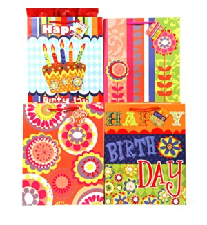 GIFT BAG #BB436L BIRTHDAY, ASST