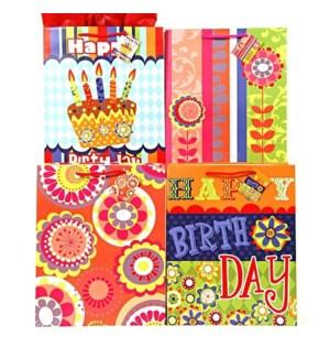 GIFT BAG #BB436M BIRTHDAY/ASST