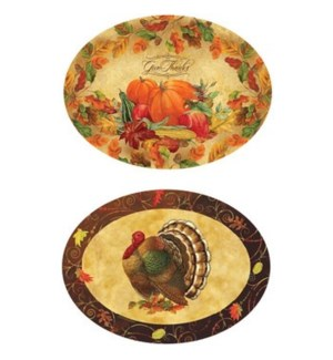 TH'GIVING #HM3001 OVAL SERVING TRAY