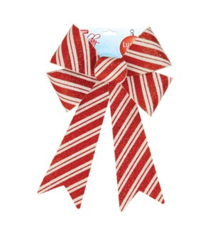 CH-MAS #BW839 BOWS RED & WHITE