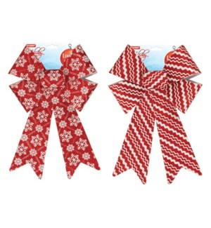 CH-MAS #BW838 BOWS RED & WHITE