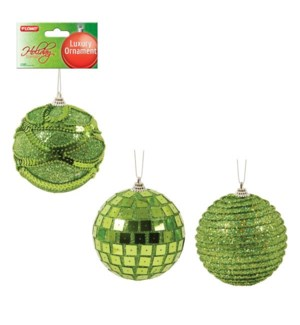 CH-MAS #HON1001L ORNAMENT, LIME GREEN SP