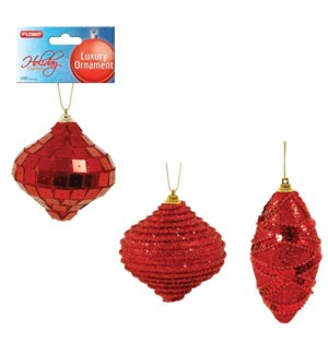 CH-MAS #HON1002R ORNAMENT, RED TEAR DROP