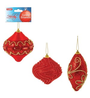 CH-MAS #HON1006R ORNAMENT, RED TRIMMED I