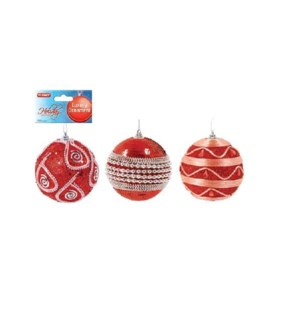 CH-MAS #HON1007R ORNAMENT, RED BEJEWELED