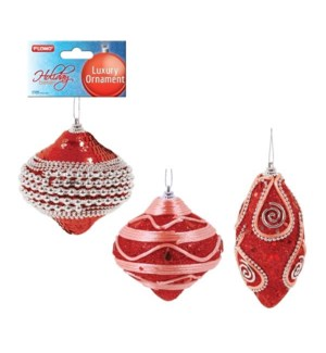 CH-MAS #HON1008R ORNAMENT, RED BEJEWELED