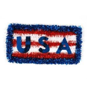 PATRIOTIC #PA401 TINSEL HANGEING PLAQUE