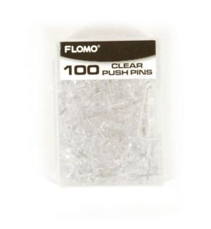 MG-1427 100CT PUSH PINS, CLEAR