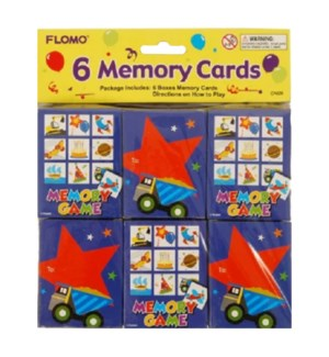 CA626 MEMORY PUZZLE CARDS, B'DAY BOY