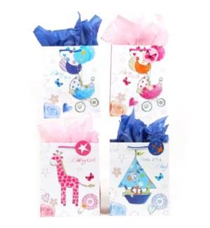 GIFT BAG #PM637L BABY SHOWER/ASST