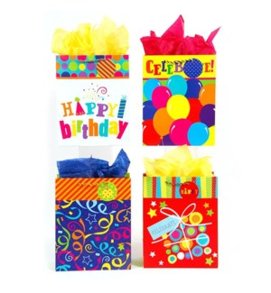GIFT BAG #BB654M BIRTHDAY/ASST