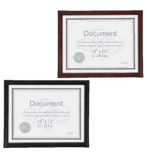 DOCUMENT FRAME #RM1115 BLACK/BROWN