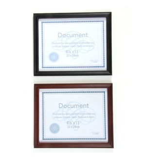 DOCUMENT FRAME #RM8011 BLACK & BROWN