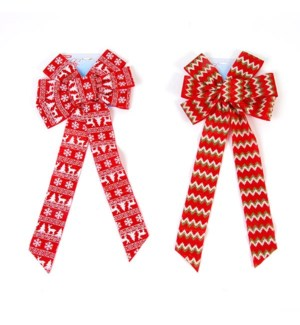 CH-MAS #BW1005 RED BOW W/LONG TAIL