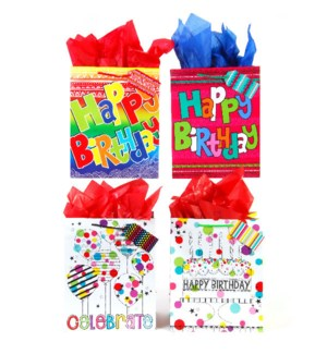 GIFT BAG #BB651E BIRTHDAY/ASST
