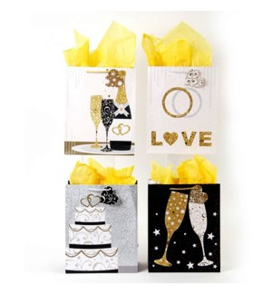 GIFT BAG #PM878L BUBBLY WISHES, ASST