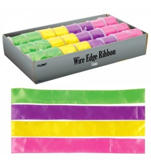 ET #ETWR585 WIRE EDGE RIBBON, SATIN
