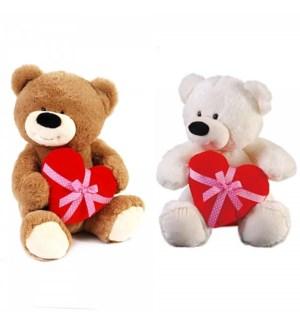 V #SA1922 HEART HUGGER BEAR/2 COLOR